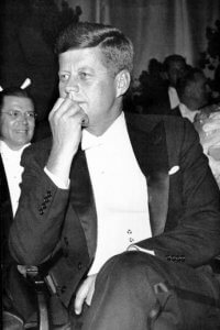 John_F._Kennedy_white_tie_candid_1962-200x300 Formal Dining Etiquette and the Rules of Civility