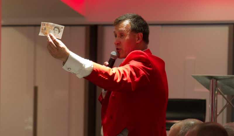 James Hasler Toastmaster - The Man in The Red Coat