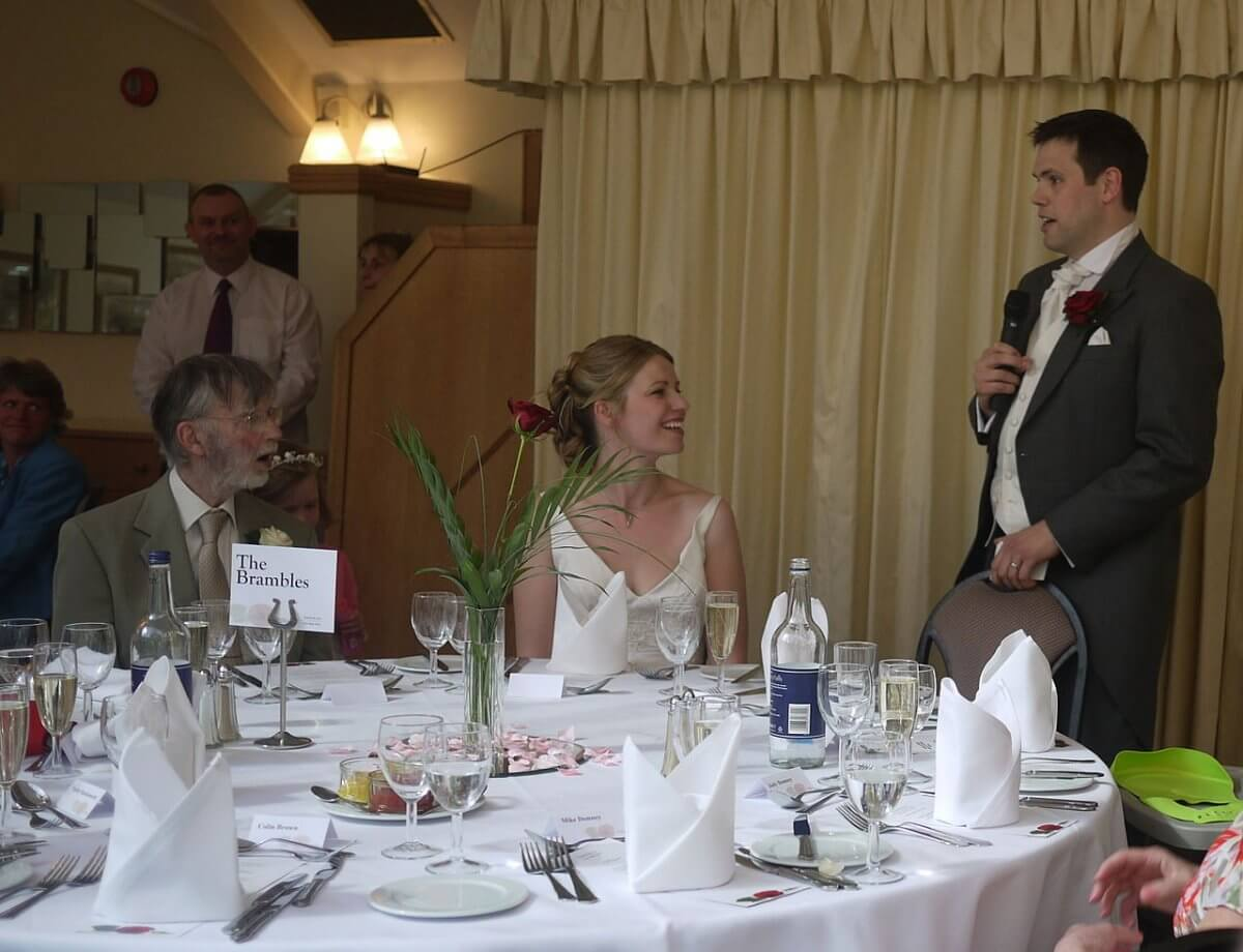 Wedding speech - James Hasler Toastmaster - The Man in The Red Coat